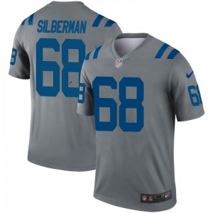 Nike Ian Silberman Indianapolis Colts Men's Legend Gray Inverted Jersey