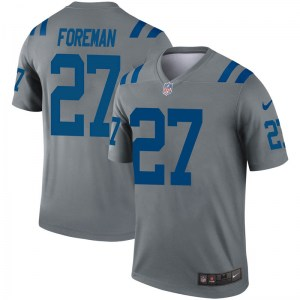 Nike D'Onta Foreman Indianapolis Colts Youth Legend Gray Inverted Jersey