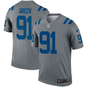 Nike Gerri Green Indianapolis Colts Youth Legend Green Inverted Gray Jersey