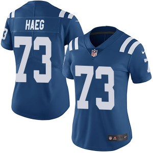 Nike Joe Haeg Indianapolis Colts Women's Limited Royal Team Color Vapor Untouchable Jersey