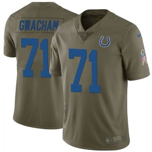 Nike Obum Gwacham Indianapolis Colts Men's Limited Green 2017 Salute to Service Jersey