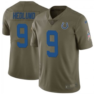Nike Cole Hedlund Indianapolis Colts Men's Limited Green 2017 Salute to Service Jersey