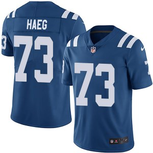 Nike Joe Haeg Indianapolis Colts Men's Limited Royal Team Color Vapor Untouchable Jersey