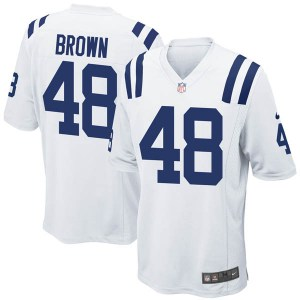 Nike Billy Brown Indianapolis Colts Youth Game White Jersey
