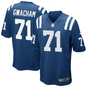Nike Obum Gwacham Indianapolis Colts Men's Game Royal Blue Team Color Jersey